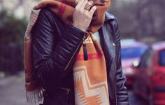 03 inspir, navajo, cloth, style, scarves, leather jackets, prints, fashion inspir, print scarf