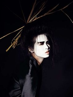 Rodeo Magazine Geisha Editorial. Grace Gao photographed by Bjarne Jonasson. Makeup - Lynsey Alexander. Hair - Daniel Martin. S)