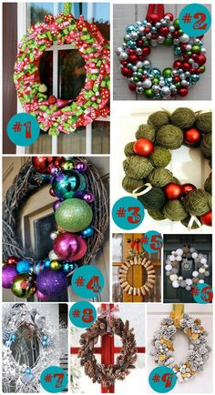 DIY Christmas Yard Decorations | ... christmas wreath 4 outdoor christmas wreath not a tutorial 5 eco