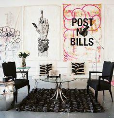 Perfect home decor : Modern furniture & Edgy art