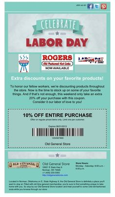 10% off thru 08/31/2013!! Labor Day Sale at