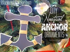 Vivaciously Vintage: DIY Nautical Anchor Ornaments