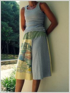 pants made from tshirts!!