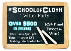 Win and learn all about cloth diapers at the #Schoolofcloth Twitter Party April 9th! ~ Cloth Diaper Geek