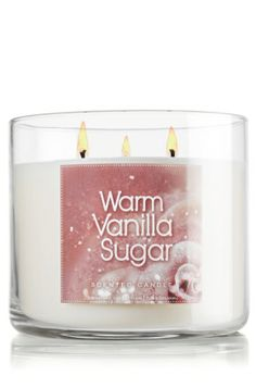 Bath & Body Works Signature Collection  14.5 oz. 3-Wick Candle  Warm Vanilla Sugar
