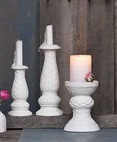 Tricot Ceramic Candle Holder