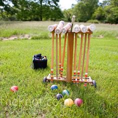 Have guests play croquet and bocce ball on the lawn during the cocktail hour.