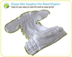 Diaper Rite Pre Fitted diapers