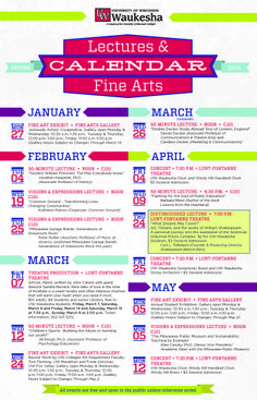 Plan to attend some of our Spring Events!