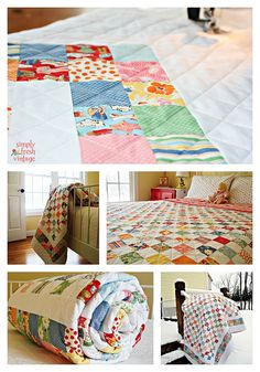 postage stamp quilt - so cute