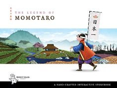 """FREE ebook app The Legend of Momotaro reg (5.99) 7/18/14 """"The famous legend of Momotaro is brought to life with beautiful handcrafted illustrations, animations and narration."""""""