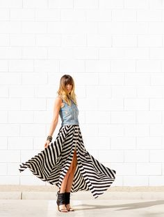 Love the skirt and shoes... http://www.stylemepretty.com/living/2013/06/20/best-dressed-bloggers-a-house-in-the-hills/