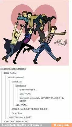 geek, supernatur, fangirl, ship destiel, crossov, fandom, sherlock, shirt, doctor