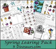 Free Spring Learning Pack - 3Dinosaurs.com
