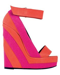 pink orange stripe shoes #shoes #sapatos #heels #salto #fashion