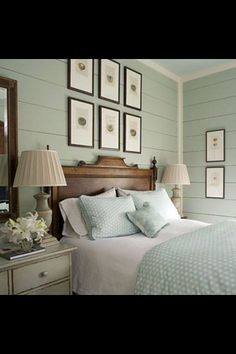 I like this wall color, and I LOVE a planked wall!