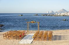 Beach Wedding at Esperanza Resort in Cabo  www.esperanzaresort.com