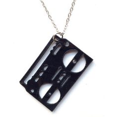 For the crate-digger in your life -- necklaces made from recycled vinyl records.