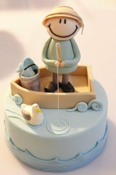 dessert cakes, boy birthday cakes, fisherman cake