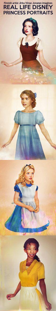 Real life Disney princesses portraits…