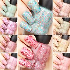 Yogurt Nails~ Nail Art. Nail design #ShopSimple