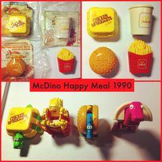 Mcdino 1990 mcdonalds toys 90s kids happy meal 80S, 90S Kids, Toys 90S