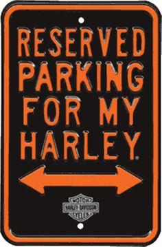 Harley-Davidson® Reserved Parking Tin Sign 10902151