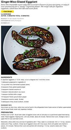 ginger miso glazed eggplant more ginger eggplant 3 1