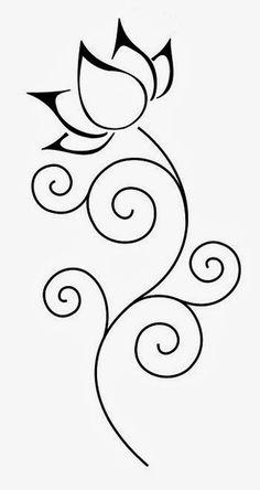 lotus flower stencils free - Google Search