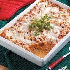 Skinny Baked Spaghetti Casserole