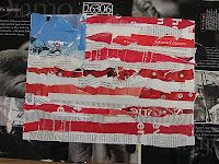 flags, art lesson, veterans day, american flag, collages, art dish, flag collag, fifth grade, project ideas