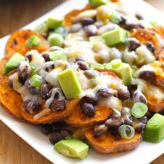 Sweet Potato Nachos HealthyAperture.com