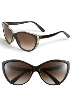 Alexander McQueen Two Tone Cat's Eye Sunglasses | Nordstrom - WANT!  I tried these on the other day - so cute!