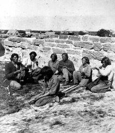 Florida Memory - Native American prisoners making arrows at Fort San Marcos - Saint Augustine, Florida