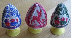 These are old egg cozies.