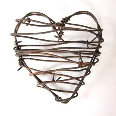 Love this barbed wire heart!