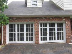 french garage doors with walk through http://www.walkthrugaragedoors.com/photo-gallery/index.html