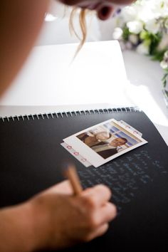 Polaroid guest book - great idea!