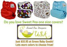 cloth diapers, sweet pea
