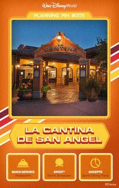 Walt Disney World Planning Pins: La Cantina De San Angel