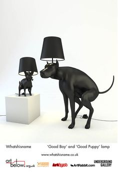 Good Puppy and Good Boy table lamp (2012)