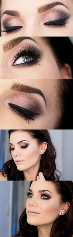 dramatic eyes. simple lip color