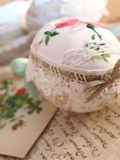 easter fabric eggs Chantal Sabatier