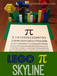 Learn About Pi with LEGO Bricks - free printable  @lego_education
