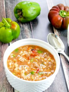 Slow Cooker Stuffed Pepper Soup. Quick prep and soooo good!