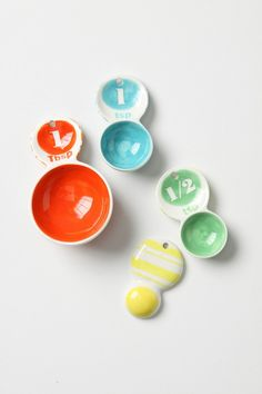 spoons, color, measur cup, fiesta ware, measur spoon, anthropologie, measuring cups, kitchen, thing