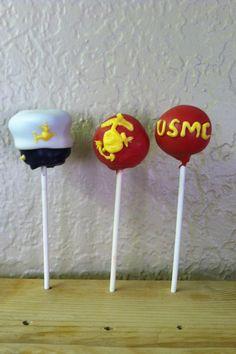 US Marine Corps Cake Pops