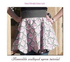 Reversible Scalloped Apron Tutorial