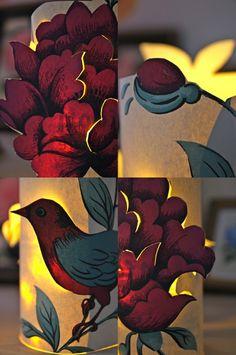 Rebeccas DIY: DIY: Tapetlyktan Pion * Wallpaper lantern