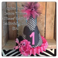 minnie mouse party #party hat facebook - Sydnie Lynn Couture